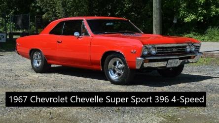 1967 Chevrolet Chevelle SS 396 RESTO BIG BLOCK 4 SPEED